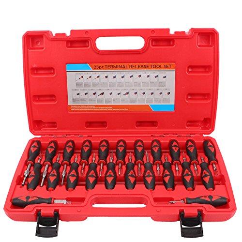 CCLIFE 23 Tlg ISO Entriegelungswerkzeug Auspinwerkzeug KFZ Stecker Entriegeln Auspin Entriegelung Werkzeug
