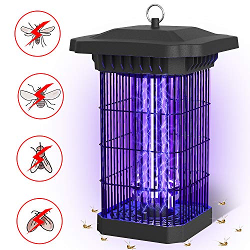 FLASHVIN Bug Zapper, 4000V Mosquito Zapper Killer Electric Fly Trap for Outdoor and Indoor Use, UV Grid Insect Trap Lamp for Home and Garden