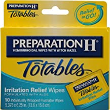 Preparation H Totables Irritation Relief Wipes -- 10 Wipes - 2PC