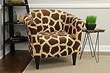 Mainstays Marlee Animal Printed Bucket Accent Chair (Giraffe Animal Print)