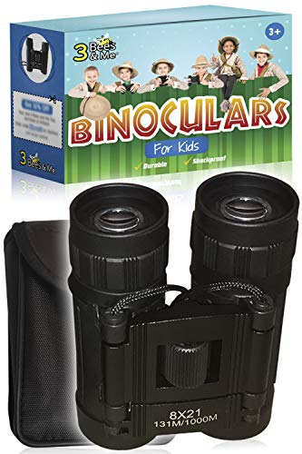 3 Bees & Me Binoculars for Kids - Fun Kids Gift for Boys & Girls - 8x21 Lens - Compact & Durable