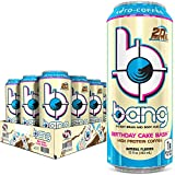 Includes 12 (15oz) cans of Bang Keto Coffee, Birthday Cake Bash flavor Bang Keto Coffee is for those who enjoy the energy kick — and then some 20 grams of high-quality milk protein concentrates the body can readily use 300mg of caffeing and Straight ...