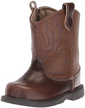 Baby Deer Round Toe Western Boot Brown 4