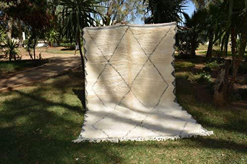 Marrakesch Beni ourain Berber - Alfombra (Lana Tribal Natural, Tejido a Mano, 310 x 200 cm), diseño de Diamantes