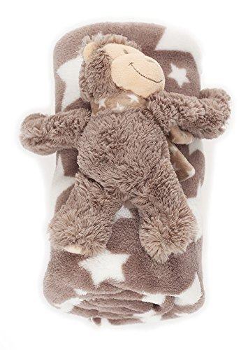 bébé Couverture douce avec Animal en peluche chaud couverture BF 000033 - Gris / Etoile