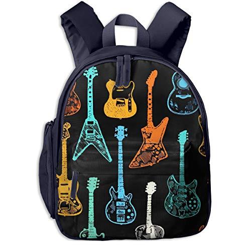 Mochilas Infantiles, Bolsa Mochila Niño Mochila Bebe Guarderia Mochila Escolar con Guitarra...