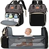 DEBUG Baby Diaper Bag Backpack with Changing Station Diaper Baby Bags for Boys Girl Diper Bag with Bassinet Pad Men Dad Mom Travel Waterproof Stroller Straps Large Capacity Bookbag Leopard
