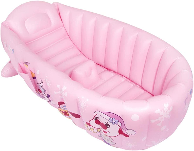 DSADDSD Baby Bad Faltbare Tragbare Kinder Badebecken Verdickung Isolierung Aufblasbare Badewanne (Farbe   2 )