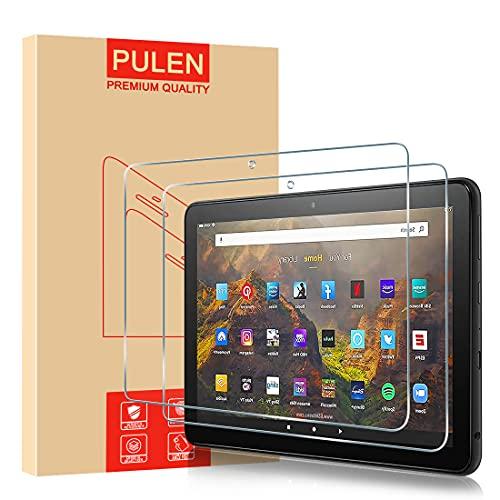 PULEN Protector de Pantalla para New Amazon Fire HD 10/ 10 Kids Edition/ 10 Kids Pro/ 10 Plus (11th Generation, 2021 Release) Cristal Templado, 9H Dureza [Anti Arañazos] [Sin Burbujas]【2 Pack】