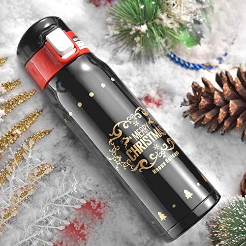 flqwe lekvrij houden koude en warme dranken fles, kerst stuiterende knop beker, cartoon roestvrij staal mok, geïsoleerde vacuüm Travel mok
