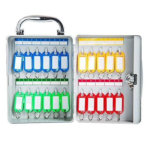 Armarios para llaves Caja De Gestión De Clasificación Portátil Caja De Llaves De 22 bits Caja De Almacenamiento De Llaves Montada En La Pared (Color : Silver, Size : 14.5 * 6 * 19.5cm)