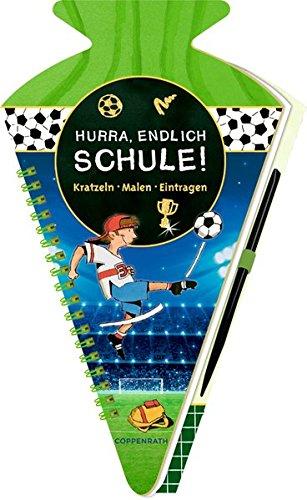 Schultüten-Kratzelbuch - Fußballfreunde - Hurra, endlich Schule!: Kratzeln, Malen, Eintragen