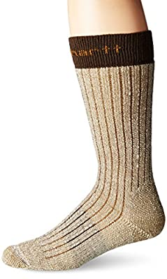 Carhartt Men's Steel Toe Arctic Wool Boot Sock, Brown, Shoe Size: 11-15