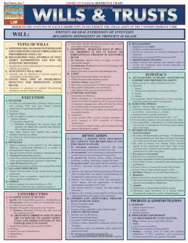Wills And Trusts (Quick Study: Law)