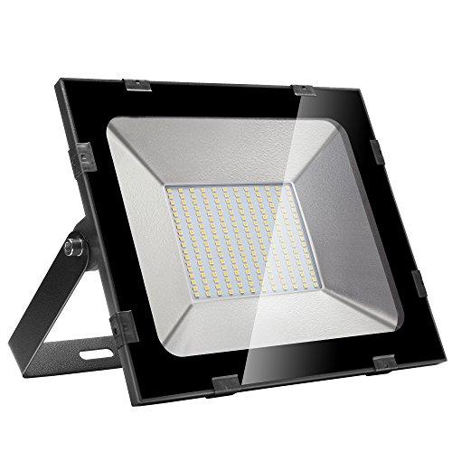 XGZ Außenstrahler 150W LED Flutlicht Wasserdicht Außen Kaltweiß Außenleuchte Wandstrahler Lampe 220V Aluminium Fluter (Warmweiß, 1x150W)