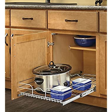 Rev-A-Shelf - 5WB1-1520-CR - 15 in. W x 20 in. D Base Cabinet Pull-Out Chrome Wire Basket