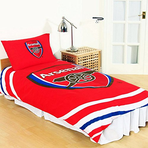 Arsenal FC Reversible Pulse Duvet Set (Single) (Multicoloured)