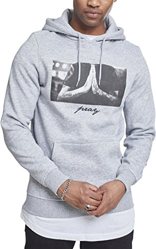 Mister Tee Herren Pray Hoody Kapuzenpullover, heather grey, XL