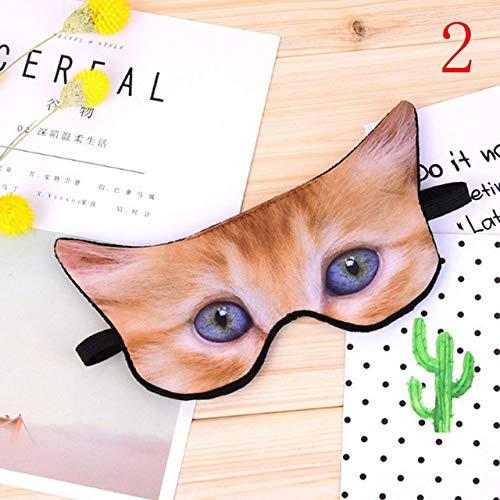 Niedlicher 3D-Tierdruck Schlafende Augenmaske Augenbinde Entspannen Sie sich Schlafabdeckungen...