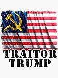 Trump Putin Russia Traitor Funny Impeach Trump Flag Design - Sticker Graphic -...