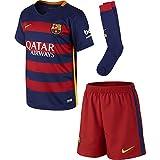 NIKE FCB Home LB Kit - Conjunto Deportivo para niños para niño, Color Rojo/Azul, Talla XS
