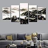 SUANNAIYA Leinwanddrucke 5 Panels Chinesische Chinesische