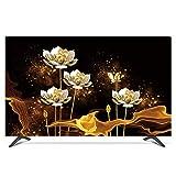 """Copertura TV Interni 24""""- 80"""" Protezione Antipolvere Resistente All'acqua per TV LCD, a LED, al plasma, Monitor, schermo curvo, compatibile con supporti standard - 40 Pollici Goldener Lotus"""