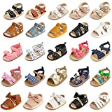 HsdsBebe Infant Baby Boys Girls Adjustable Strap Sandals Toddler Anti-slip Rubber Sole Meash Breathable Outdoor Beach Slippers(M1995 brown,2)