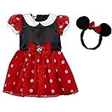 Disfraz de Minnie Mouse de Disney 80/86 + cinta para la cabeza, talla 12-18 meses, carnaval, 1º cumpleaños