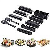 ESF Kit para Hacer Sushi, Kit para Hacer Sushi para Principiantes 10 Piezas de Herramienta plástica para Hacer Sushi, Rollo de Sushi