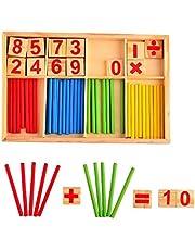 عصي العد م فئة الالعاب التعليمية - العاب تنمية الذكاء - صندوق خشبي رياضي من مونتيسوري