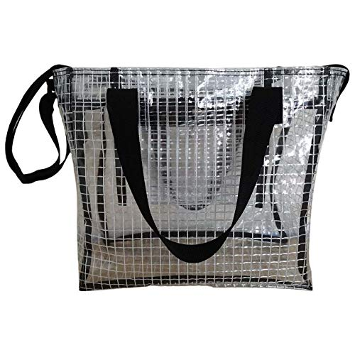yuwei Fashion Women PVC Anti-static Shoulder Bag, Transparent Bags Satchel Handbag Messenger for Teenager Student