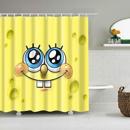 Citihomy Duschvorhang Liner Mildew Resistant für Bad Cartoon Spongebob Squarepants Stoff Wasserdicht Bad Dekoration Dekor Design 72