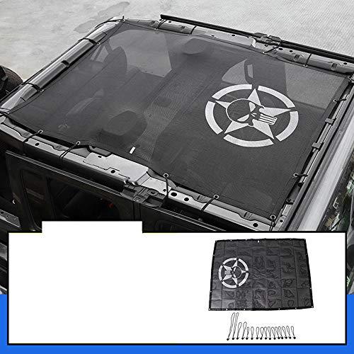 D28JD Buggy Sonnenschutz Net J-eep Wrangler JL Bikiniober Net 4 Tür, Dach Anti-UV Sonnenschutz Mesh-Sahara Sport,squattingatthepentagonal