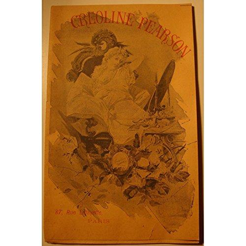 CREOLINE PEARSON publicité - notice - usage Brochure - RARE