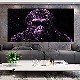 BailongXiao Cuadro En Lienzo Decoración del hogar de la Pared del Gorila Mono para el Cartel de la Sala de estar75x150cmPintura sin Marco