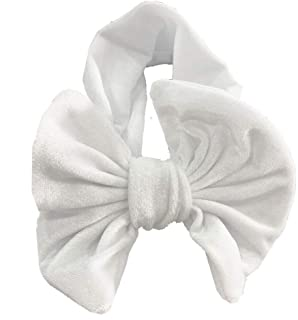 MOPOLIS Cute Baby Girls Bunny Kids Turban Knot Rabbit Headband Bow Hair bands Head wrap | Color - white