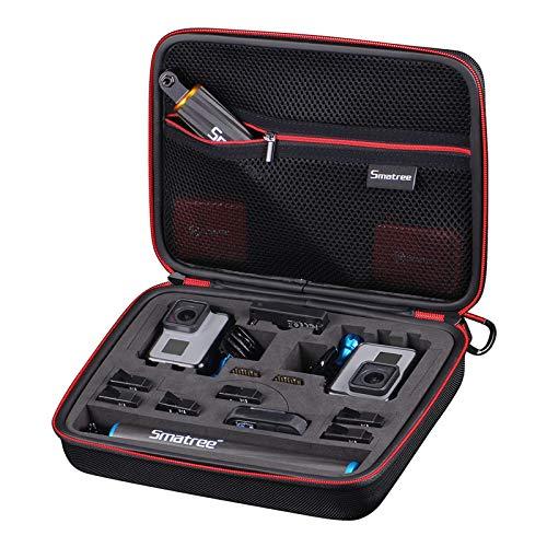 Smatree Smacase G260sl Tasche für DJI OSMO Action/Gopro Hero10/9/8/7/6/ 5/4/3/3+,SchwarzundGelb(Kamera & Zubehör Nicht enthalten)