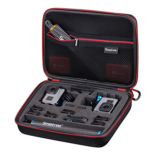 Smatree Smacase G260sl Tasche für DJI OSMO Action/Gopro Hero9/8/7/6/5/4/3/3+,Schwarz&Gelb(Kamera und Zubehör Nicht enthalten)