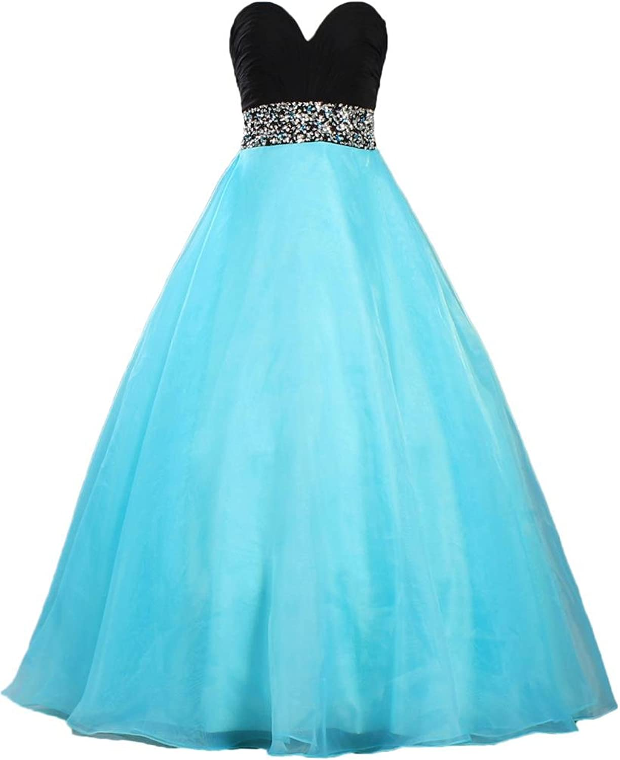 ANTS Women's Sweetheart Ball Gown Quinceanera Dress Long Prom Dresses