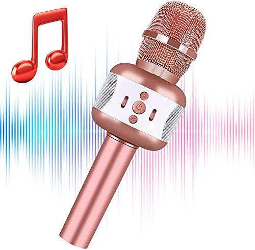 Ncknciz Verbeterde Karaoke Bluetooth Microfoon, Kinderen Microfoon Volwassenen Draadloze Microfoon Speaker, Draagbare…