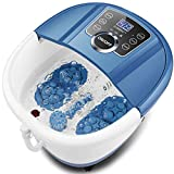 Foot Spa Bath Massager with Heat Bubbles, Shiatsu Massage Rollers, Time & Temperature Control, Digital panel, Large Size for Soaking Feet, Soothe and Relieve Feet Muscle Pain