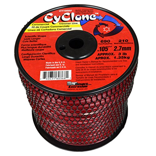 "Cyclone Desert Extrusion CY105S3 .105"" x690' Commercial Line Red [2/Case]"