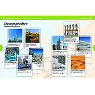 Dubai-e-Abu-Dhabi-Emirati-Arabi-Uniti-Con-Carta-geografica-ripiegata