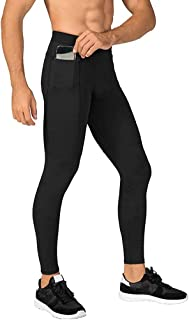 MakingDa Men's Jogger Sports Compression Pants Workout Running Tights Leggings Cool Dry Technical Training Baselayer with ...