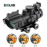 ESSLNB Lunette de Visee pour Carabine 4X32 Rouge/ Vert/ Bleu Triple Illuminé Viseur...