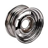 Speedway Motors GM Rally Truck Wheel, 6 on 5.5 Inch Bolt Pattern, 15x10, Silver