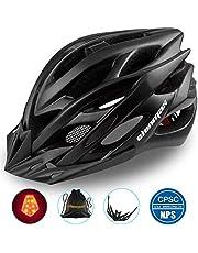 Shinmax Casco Especializado de la Bici con la luz Seguridad Casco Ciclo Adjustable Deporte Cascos Bici Bicicleta Camino Mountain Biking Motocicleta Hombres Mujeres Adultos