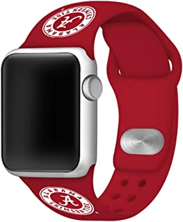 AFFINITY BANDS Alabama Crimson Tide Silicone Watch Band Compatible with Apple Watch (Crimson (Circle A), 38mm/40mm) - Licensed NCAA Watch Band