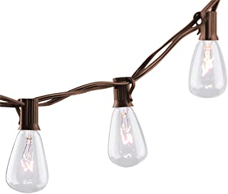 25Ft Edison Outdoor String Lights with Edison Bulbs,UL Listed Backyard Patio Lights, Hanging Indoor/Outdoor String Lights for Bistro Deckyard Tents Market Cafe Gazebo Porch Letters Party Decor,Brown